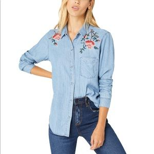 Rails Ingrid Embroidered Chambray Shirt XS